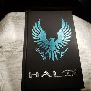 Black Textured Journal W/ Halo Spartan Logo